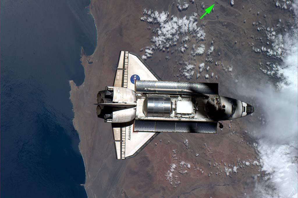 shuttle over Nazca